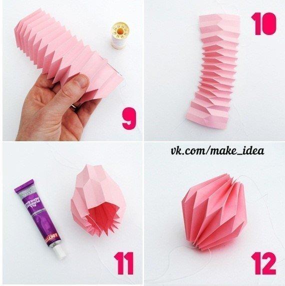 Как сделать фонарики из бумаги своими