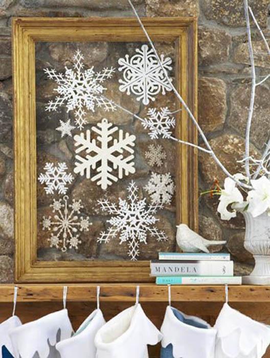 Зима своими руками на стену