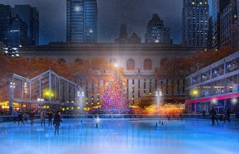 Рождество в Нью-Йорке: атмосферные фото праздничных улиц Нью -Йорк, красиво, красивый вид, новогоднее настроение, новый год, рождество, сша, фото