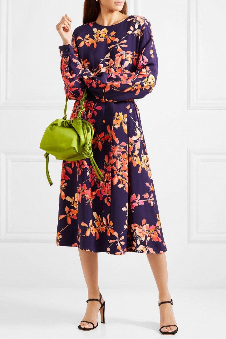 Платья с цветочным принтом - наш ответ серым осенним будням фото №2