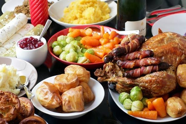 Рождественский обед в картинках.