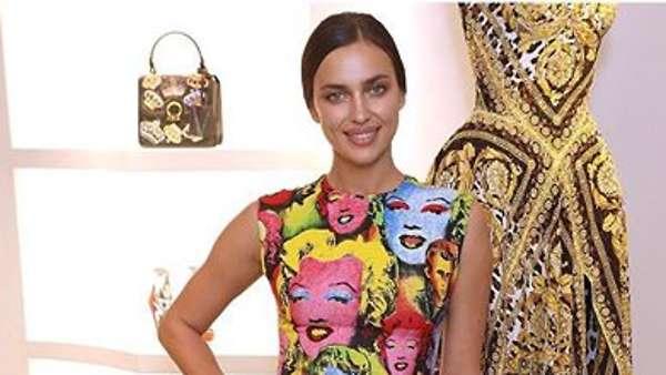 Образ дня: Ирина Шейк в Versace