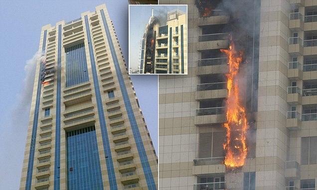 В Дубае загорелся 75-этажный небоскрёб