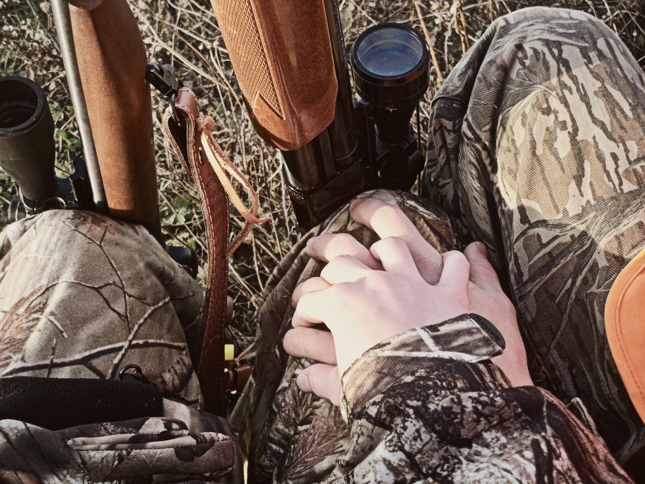 Couple girl hunting