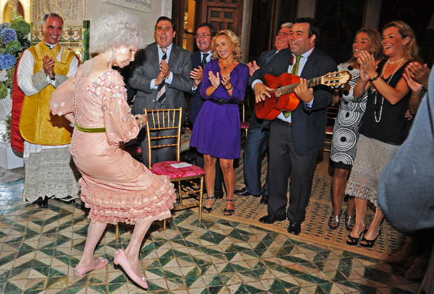 Каэтана танцует на собственной свадьбе