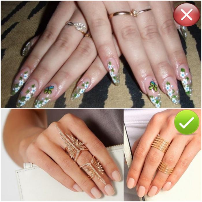 Украшать каждый палец кольцом – перебор.