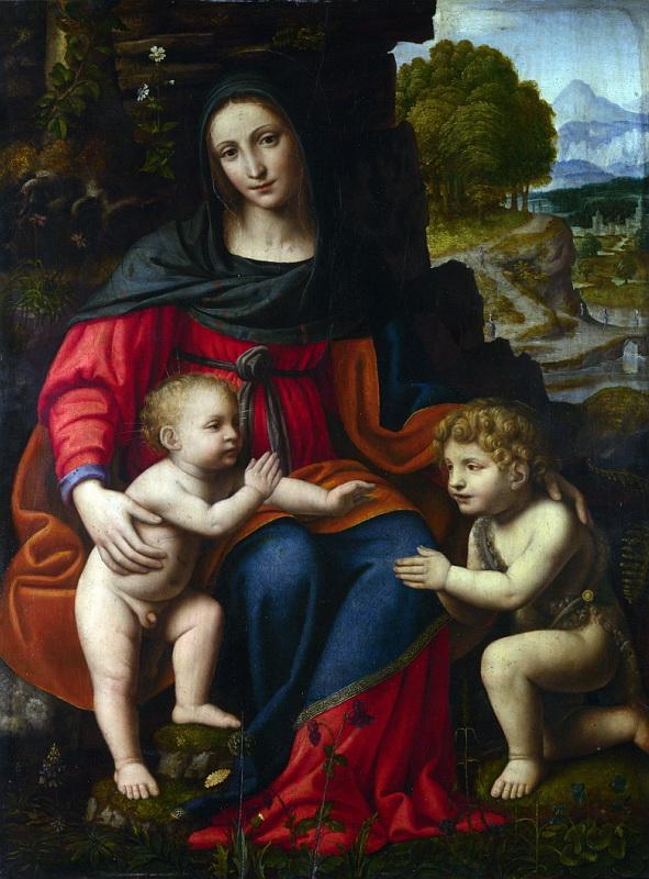 Bernardino Luini - The Virgin and Child with Saint John. Национальная галерея, Часть 1