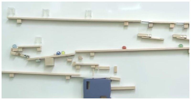 Занимательная машина Руба Голдберга от талантливых японцев