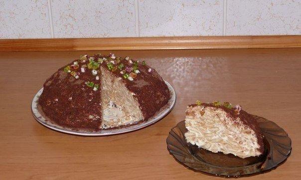 Очень вкусный и простой в приготовлении тортик без выпечки