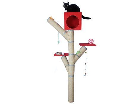 Игровой комплекс для кошки из ПВХ труб