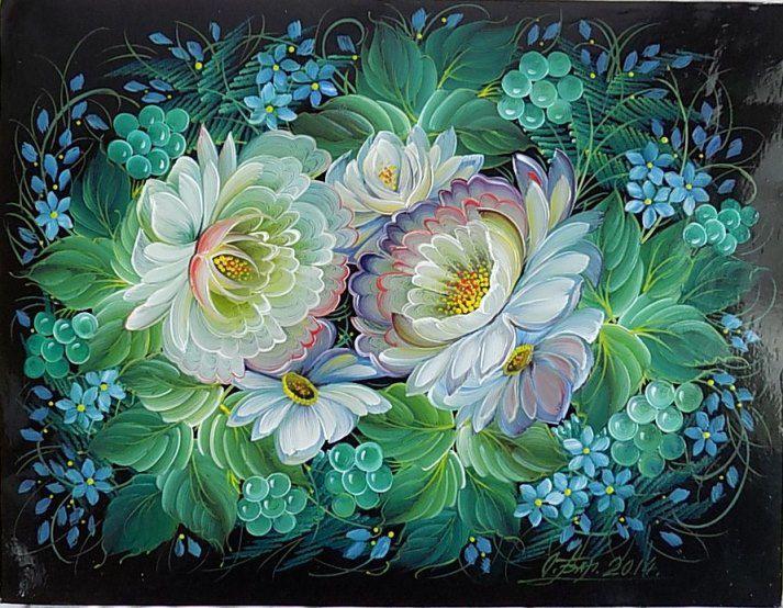 Это шедевральная ручная роспись Ольги Балакиной.