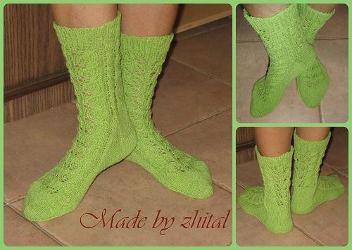 Мои первые ажурные носочки