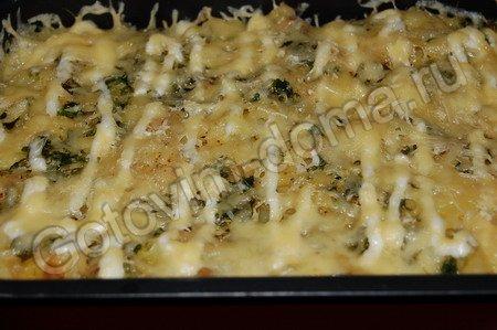 рецепт Запеканка из картофеля с копченым окороком
