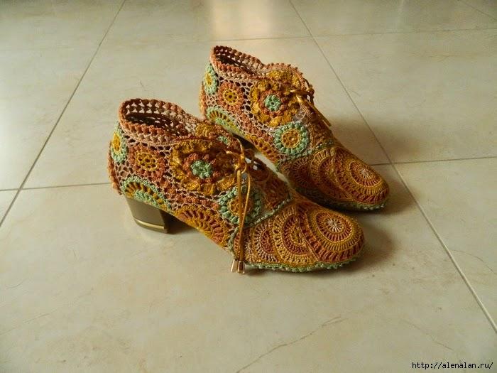 """Обувь в технике """"ирландское кружево"""""""