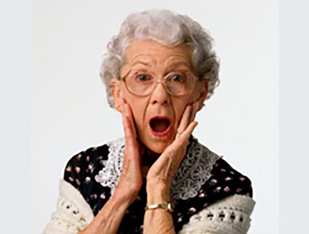 У старой леди были проблемы …
