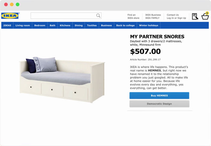 IKEA Renames Products After Most Googled Relationship Problems (10+ Pics)