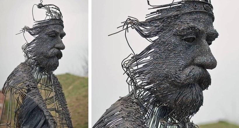 Image result for Скульптор делает потрÑÑающие портреты иÑторичеÑких деÑтелей из металличеÑких проводов