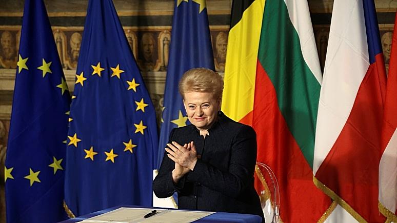 Грибаускайте: Россия и Белоруссия угрожают НАТО одним своим существованием