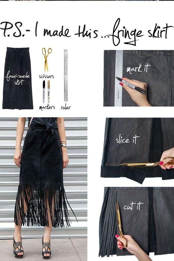 Переделка длинной юбки