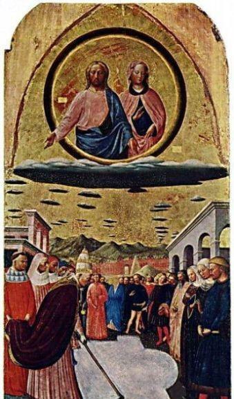 Уфологи поразились огромному количеству древних фресок с изображениями НЛО