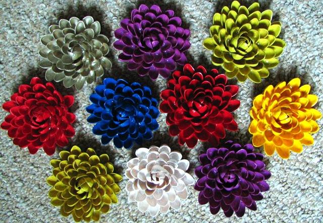 Как сделать цветы из фисташковых скорлупок!