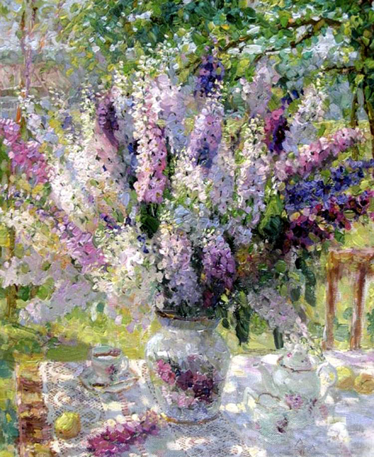 Импрессионизм в полном цветении — прелестные натюрморты Виктора Зундалева