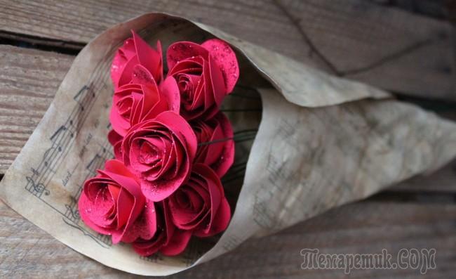 Как сделать розу из бумаги своими руками: 4 простые техники