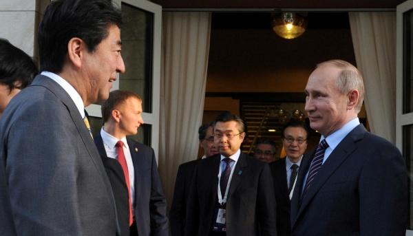 Переговоры Путин— Абэ: Авиарейс наКурилы, инвестиции иэнергоресурсы