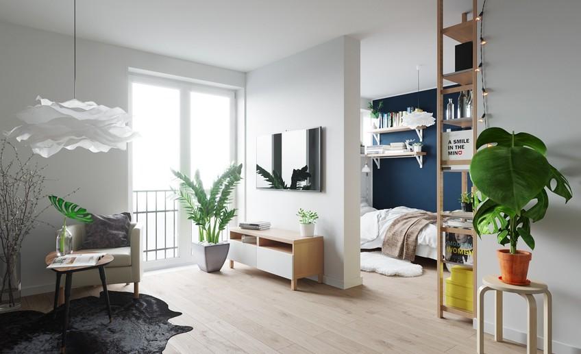 Светлая квартирка 30 м² с мебелью из IKEA