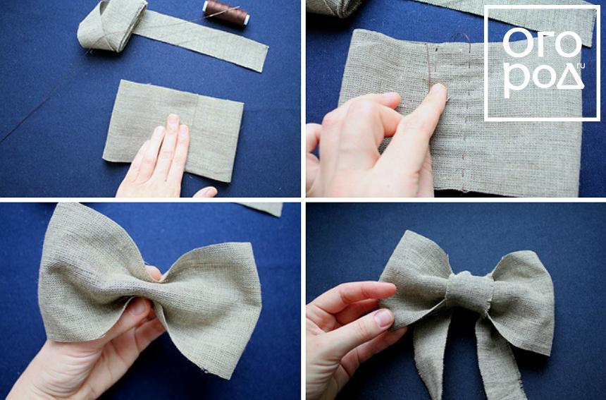 Как сделать сам бант из ткани 472
