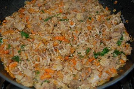 рецепт Кальмары, фаршированные свининой