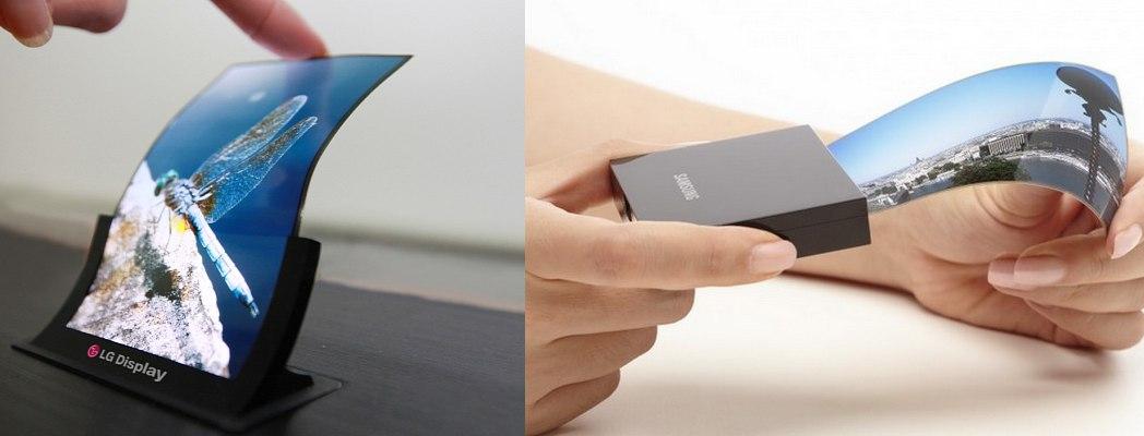 Samsung и LG начинают производство гибких дисплеев