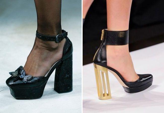 туфли на толстом высоком каблуке