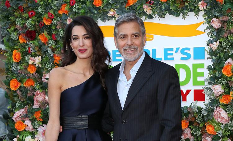 Амаль и Джордж Клуни на благотворительном вечере в Эдинбурге