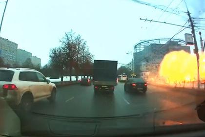 Момент взрыва на «Коломенской» попал на видео