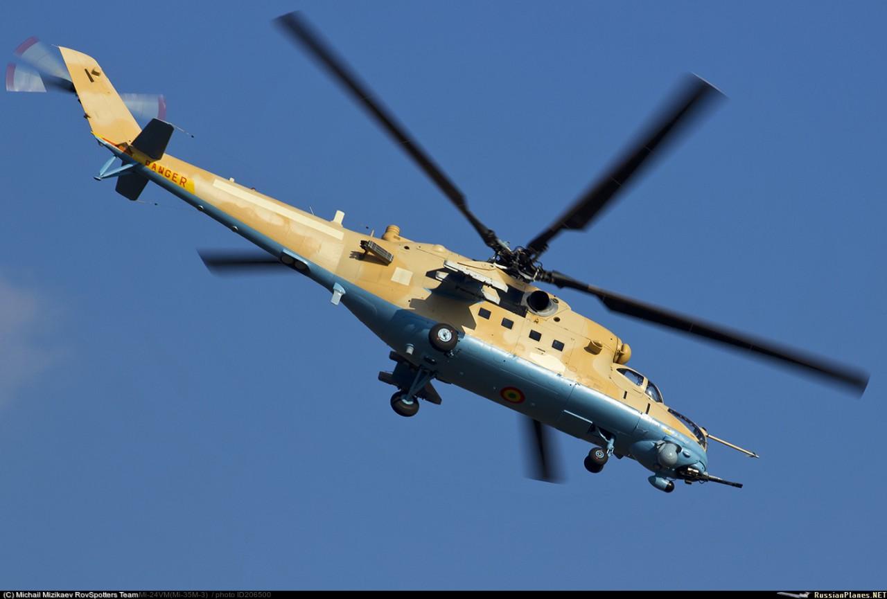 Два вертолета Ми-35М были доставлены из России в Мали 21 сентября 2017 года