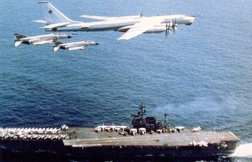 Как советские летчики на Ту-95 американцев на авианосце от души попугали