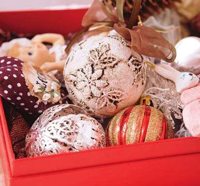 Декор ёлочных шариков