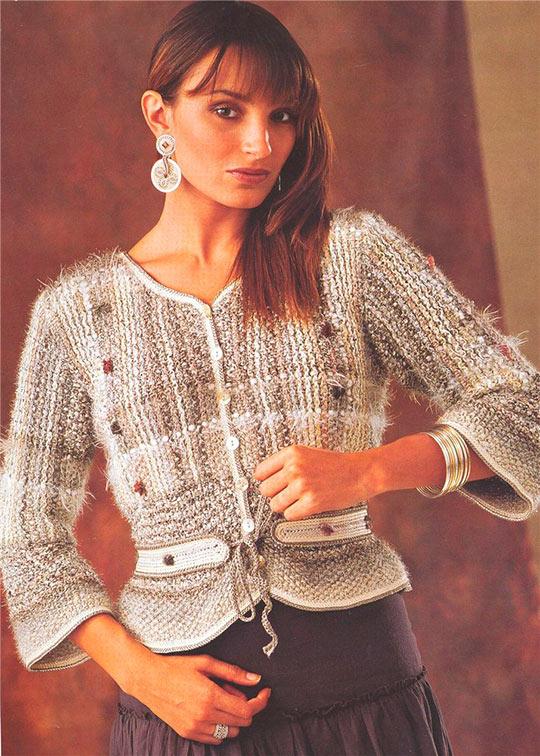 Вязание модные кофты для женщин 943