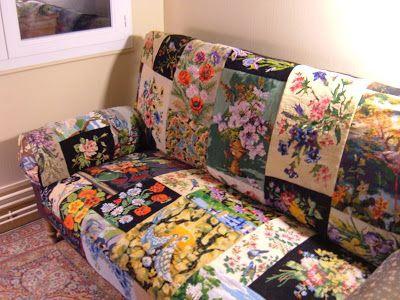 Перетяжка мебели вышивками