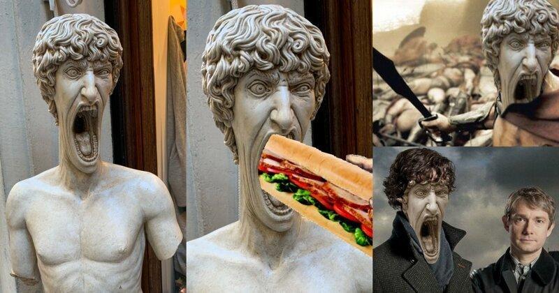 Кричащая статуя из Италии рвёт интернет