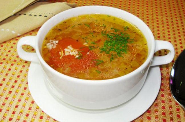 Фото суп с рисом