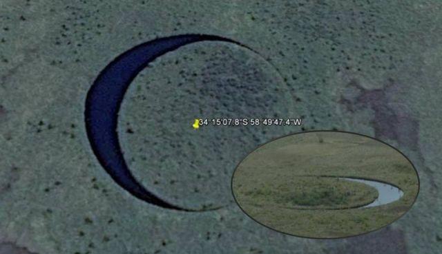 Загадочный остров который вращается вокруг своей оси в странном озере идеально круглой формы