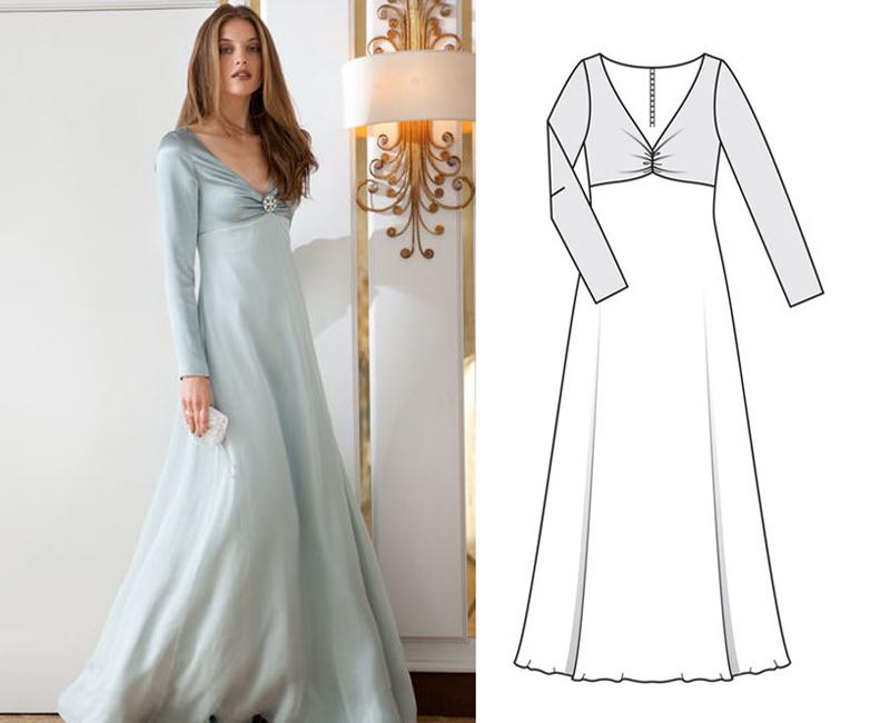 Платье вечерние своими руками шить