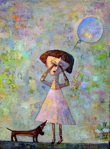 Девочка плачет- шарик улетел...