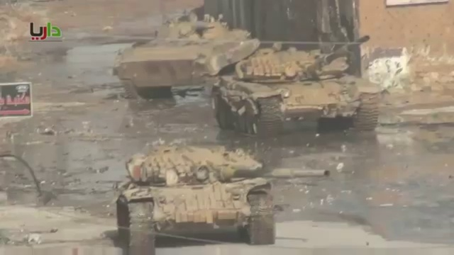 Сирийские боевики в ужасе от наших танков