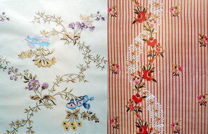 Рельефная вышивка в стиле