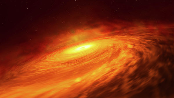 """Астрономы открыли загадочный диск из пыли у """"спящей"""" черной дыры"""