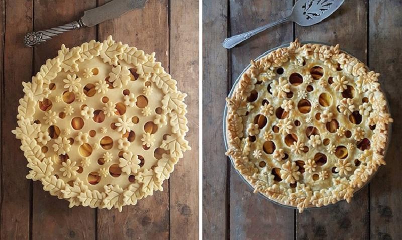 Самый вкусный инстаграм: ажурные пироги до и после духовки