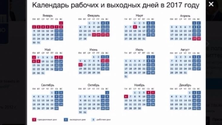 Новогодние каникулы 2017 в России. Сколько дней,